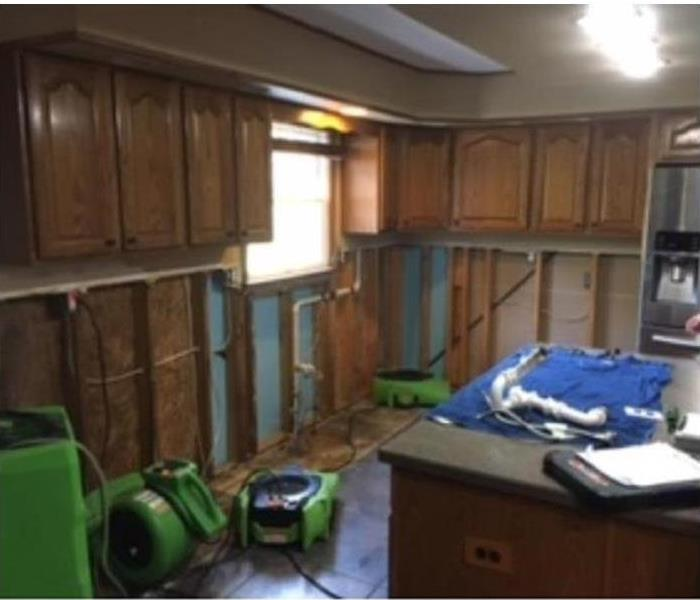 Water Damage from Bathroom Affects Kitchen Before