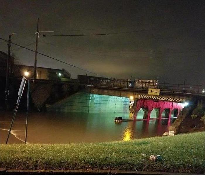 Under Pass in Mansfield Ohio Floods after a storm.